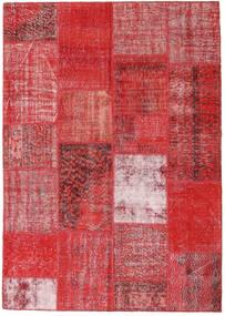 Patchwork Sag 162X230 Autentični  Moderni Ručno Uzlan Hrđavo Crvena/Tamnocrvena/Grimizno Crvena (Vuna, Turska)