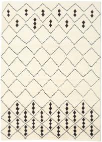Berber Indo - Off-White/Crna Sag 210X290 Autentični  Moderni Ručno Uzlan Bež/Bijela/Krem (Vuna, Indija)