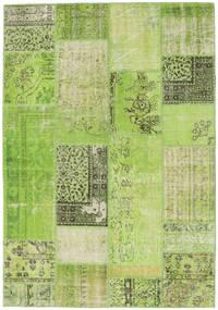 Patchwork Sag 161X232 Autentični  Moderni Ručno Uzlan Svjetlozelena/Zelena  (Vuna, Turska)