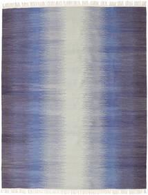 Ikat - Dark Plava Sag 190X240 Autentični  Moderni Ručno Tkani Svjetlosiva/Ljubičasta (Vuna, Indija)