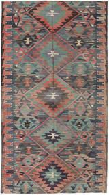 Ćilim Turski Sag 163X292 Autentični Orijentalni Ručno Tkani Tamnosiva/Svjetlosmeđa (Vuna, Turska)