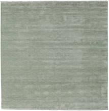 Handloom Fringes - Soft_Teal Sag 250X250 Moderni Kvadratni Veliki (Vuna, Indija)