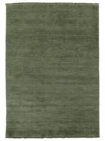Handloom Fringes - Šumsko Zelena Sag 160X230 Moderni (Vuna, Indija)