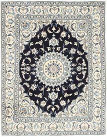 Nain Sag 193X250 Autentični  Orijentalni Ručno Uzlan Svjetlosiva/Bež (Vuna, Perzija/Iran)