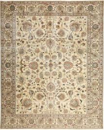 Tabriz Patine Sag 303X380 Autentični Orijentalni Ručno Uzlan Bež/Smeđa Veliki (Vuna, Perzija/Iran)