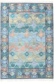 Azteca - Plava Mix Sag 160X230 Autentični  Moderni Ručno Tkani Svjetloplava/Svjetlosiva (Vuna, Indija)