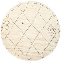 Almaaz - White Sag Ø 250 Autentični Moderni Ručno Uzlan Okrugli Bež/Bijela/Krem Veliki (Vuna, Indija)