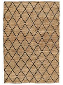 Vanjski Tepih Serena Jute - Prirodni/Crna Sag 200X300 Autentični Moderni Ručno Tkani Svjetlosiva/Bež (Juteni Tepisi Indija)