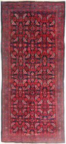 Hamadan Sag 137X320 Autentični  Orijentalni Ručno Uzlan Staza Za Hodnik  Tamnocrvena/Grimizno Crvena (Vuna, Perzija/Iran)