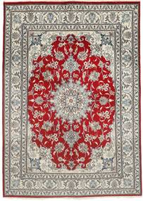Nain Sag 150X207 Autentični  Orijentalni Ručno Uzlan Svjetlosiva/Tamnocrvena (Vuna, Perzija/Iran)