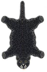 Leopard - Crna Sag 100X160 Moderni Tamnosiva (Vuna, Indija)