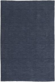 Ćilim Loom - Denim Plava Sag 200X300 Autentični  Moderni Ručno Tkani Tamnoplava/Plava (Vuna, Indija)