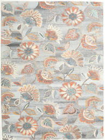 Rusty Flowers - Siva/Rust Sag 200X300 Moderni Svjetlosiva/Tamna Bež (Vuna, Indija)