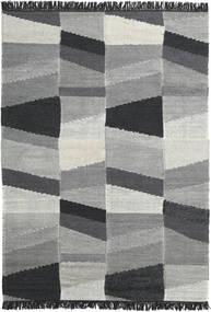 Viola - Siva/Crna Sag 160X230 Autentični  Moderni Ručno Tkani Tamnosiva/Tirkizno Plava (Vuna, Indija)