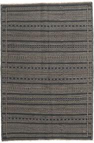 Ćilim Persia Sag 160X230 Autentični Orijentalni Ručno Tkani Tamnosiva/Crna/Svjetlosiva (Vuna, Perzija/Iran)