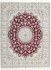 Nain 9La Sag 198X258 Autentični  Orijentalni Ručno Uzlan Svjetlosiva/Bež (Vuna/Svila, Perzija/Iran)