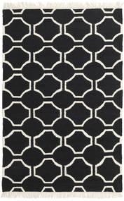 London - Crna/Prljavo Bijela Sag 160X230 Autentični  Moderni Ručno Tkani Crna/Bež (Vuna, Indija)