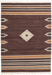 Tribal - Braon Sag 160X230 Autentični  Moderni Ručno Tkani Tamnosmeđa/Tamnocrvena (Vuna, Indija)