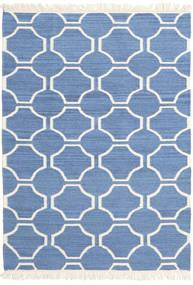 London - Plava/Prljavo Bijela Sag 120X180 Autentični  Moderni Ručno Tkani Plava/Bež (Vuna, Indija)