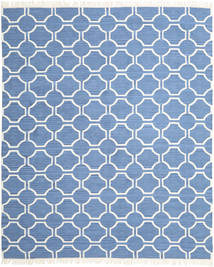 London - Plava/Prljavo Bijela Sag 250X300 Autentični  Moderni Ručno Tkani Plava/Svjetloplava Veliki (Vuna, Indija)