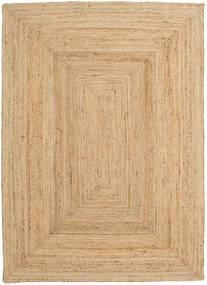 Vanjski Tepih Frida - Prirodni Sag 140X200 Autentični Moderni Ručno Tkani Tamna Bež/Bež (Juteni Tepisi Indija)