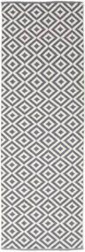 Torun - Siva/Neutral Sag 80X250 Autentični Moderni Ručno Tkani Staza Za Hodnik Svjetlosiva/Svjetloljubičasta (Pamuk, Indija)