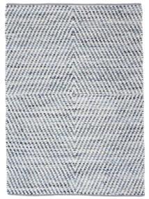 Hilda - Denim/White Sag 140X200 Autentični  Moderni Ručno Tkani Bež/Svjetloplava (Pamuk, Indija)