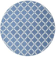 London - Plava/Prljavo Bijela Sag Ø 225 Autentični Moderni Ručno Tkani Okrugli Plava/Bijela/Krem (Vuna, Indija)