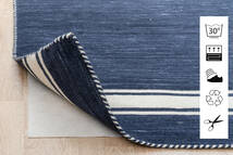 Anti Slip, Non-Woven Sag 130X190 Moderni Plava/Svjetlosiva ( Belgija)