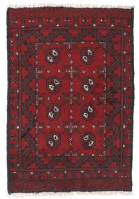 Afghan Sag 76X112 Autentični  Orijentalni Ručno Uzlan Tamnocrvena/Crna (Vuna, Afganistan)