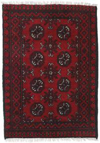 Afghan Sag 76X117 Autentični  Orijentalni Ručno Uzlan Tamnocrvena/Crna (Vuna, Afganistan)