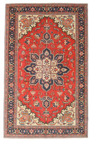 Heriz Patine Sag 164X265 Autentični Orijentalni Ručno Uzlan Tamnosiva/Hrđavo Crvena (Vuna, Perzija/Iran)