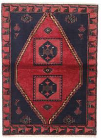 Klardasht Sag 105X140 Autentični Orijentalni Ručno Uzlan Crna/Grimizno Crvena (Vuna, Perzija/Iran)