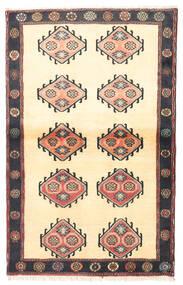 Klardasht Sag 97X150 Autentični Orijentalni Ručno Uzlan Bež/Crna (Vuna, Perzija/Iran)