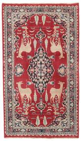 Mashad Patine Sag 104X182 Autentični Orijentalni Ručno Uzlan Grimizno Crvena/Tamnosiva (Vuna, Perzija/Iran)