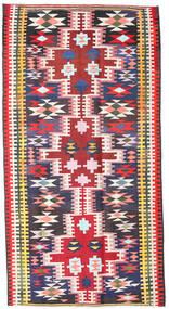 Ćilim Fars Sag 190X360 Autentični Orijentalni Ručno Tkani Crna/Svjetloružičasta (Vuna, Perzija/Iran)