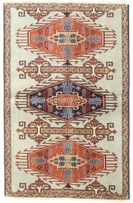 Ardebil Patine Sag 90X140 Autentični Orijentalni Ručno Uzlan Svjetlosmeđa/Tamna Bež (Vuna, Perzija/Iran)