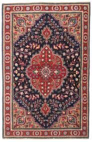 Tabriz Patine Sag 98X150 Autentični Orijentalni Ručno Uzlan Tamnosiva/Tamnocrvena (Vuna, Perzija/Iran)