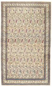 Kerman Patine Sag 85X147 Autentični Orijentalni Ručno Uzlan Bež/Svjetlosiva (Vuna, Perzija/Iran)