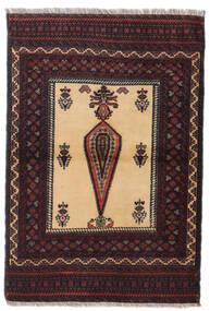 Beluch Sag 88X126 Autentični Orijentalni Ručno Uzlan Tamnocrvena/Tamnosmeđa (Vuna, Perzija/Iran)