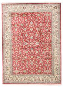 Kashmir Čista Svila Sag 158X216 Autentični Orijentalni Ručno Uzlan Bež/Svjetlosiva (Svila, Indija)