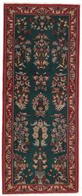 Ghom Kork/Svila Sag 82X206 Autentični  Orijentalni Ručno Uzlan Staza Za Hodnik  Tamnozelena/Tamnocrvena (Vuna/Svila, Perzija/Iran)