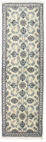 Nain Sag 80X250 Autentični  Orijentalni Ručno Uzlan Staza Za Hodnik  Tamnosiva/Bež (Vuna, Perzija/Iran)