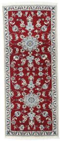 Nain Sag 80X200 Autentični  Orijentalni Ručno Uzlan Staza Za Hodnik  Tamnocrvena/Grimizno Crvena (Vuna, Perzija/Iran)