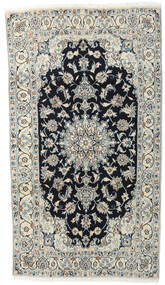 Nain Sag 118X210 Autentični  Orijentalni Ručno Uzlan Svjetlosiva/Tamnosiva (Vuna, Perzija/Iran)