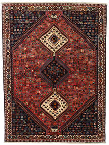 Yalameh Sag 155X201 Autentični  Orijentalni Ručno Uzlan Tamnocrvena/Crna (Vuna, Perzija/Iran)