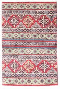Kazak Sag 96X147 Autentični  Orijentalni Ručno Uzlan Ljubičasta/Svjetlosiva (Vuna, Afganistan)