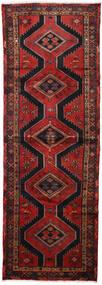 Hamadan Sag 100X290 Autentični  Orijentalni Ručno Uzlan Staza Za Hodnik  Tamnocrvena/Crna (Vuna, Perzija/Iran)