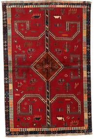 Qashqai Sag 147X222 Autentični  Orijentalni Ručno Uzlan Grimizno Crvena/Tamnocrvena (Vuna, Perzija/Iran)