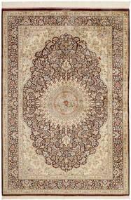 Ghom Svila Sag 134X196 Autentični  Orijentalni Ručno Tkani Smeđa/Svjetlosmeđa (Svila, Perzija/Iran)